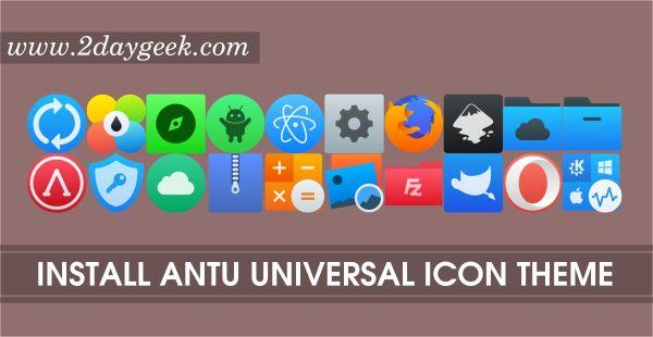 Antu Universal Icon Theme for Linux Desktop's