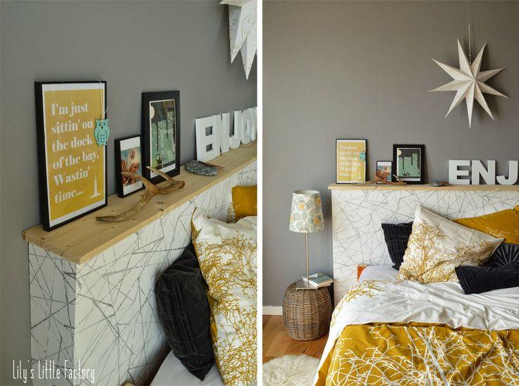 les 25 meilleures id es concernant t te de lit jaune sur. Black Bedroom Furniture Sets. Home Design Ideas