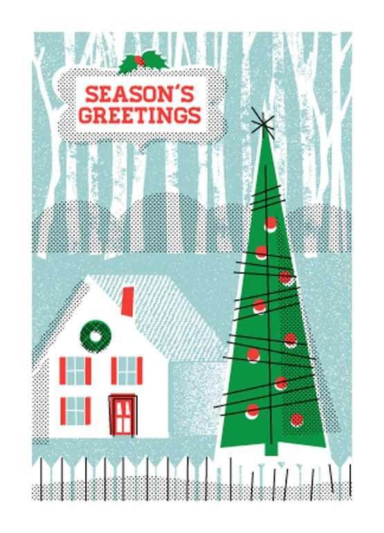 Christmas / Holiday Cabin / Holiday Cards from L2 Design Collective