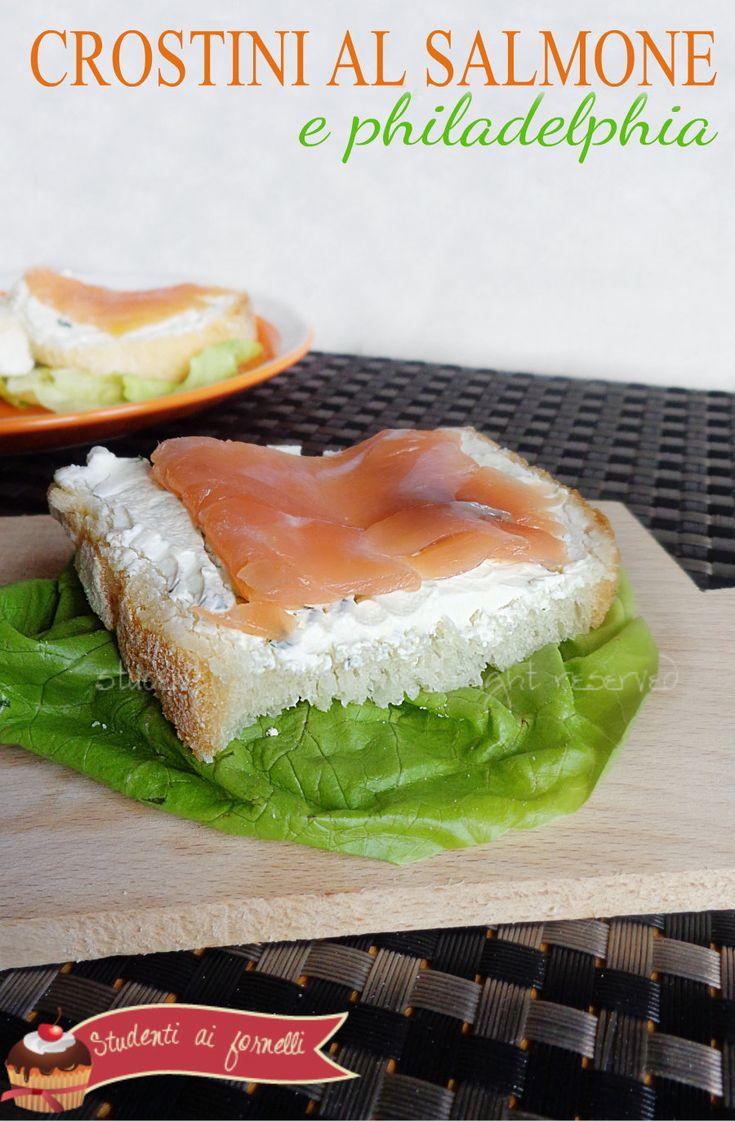 crostini al salmone e philadelphia ricetta crostini per antipasto veloci