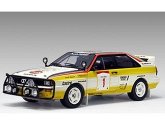 Audi Quattro LWB (Hannu Mikkola - Safari Rally 1984) in Yellow and White (1:18 scale by AUTOart 88401)