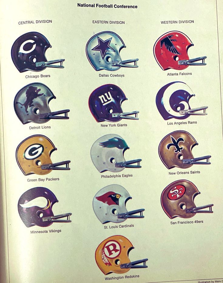 Classic Throwback NFL Helmets image by Artie Johnson in
