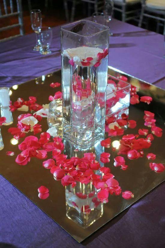 Resultado de imagen para Decoración con pétalos de rosas...