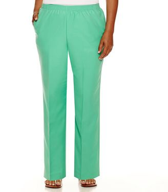 Alfred Dunner Always In Style Pull-On Pants - Shop for women's Pants - Teal Pants
