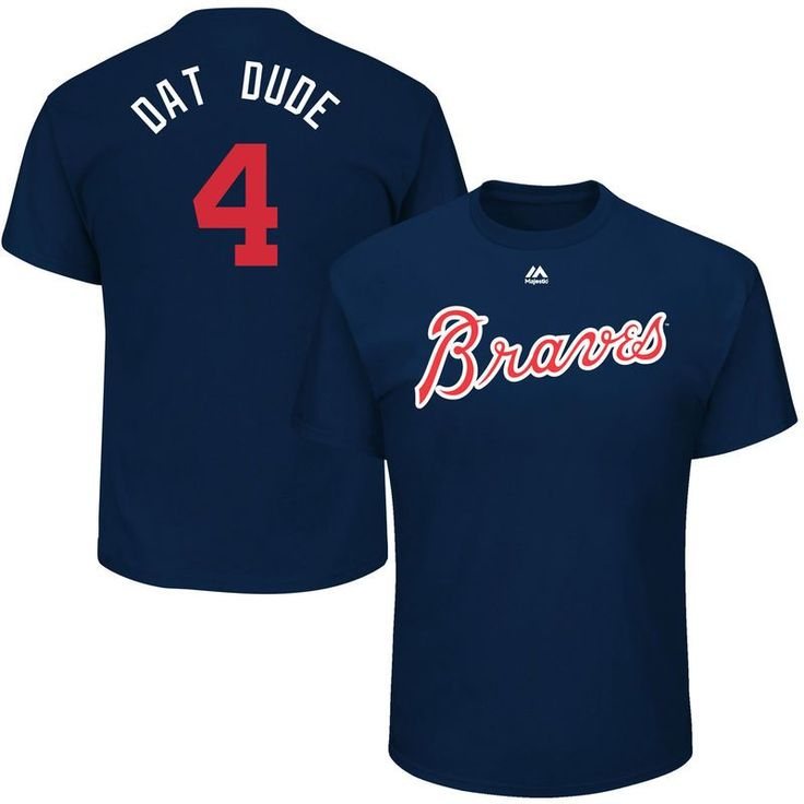 "Brandon Phillips ""Dat Dude"" Atlanta Braves Majestic 2017 Players Weekend Name & Number T-Shirt - Navy"