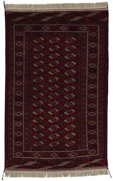 Tekke - Bokhara 204x134 - CarpetU2 Alfombras Tekke: Las alfombras Tekke Bokhara que se tejen en varias regiones de Uzbekistán, de Turkmenistán y en el este de Turkestán son muestras características de las alfombras que llamamos Bokhara. Pertenecen al grupo de las alfombras Turkmenas. Los rojos oscuros y toda la escala del rojo, desde el morado hasta el marrón son los colores predominantes con motivos repetidos. La urdimbre de las alfombras es de lana