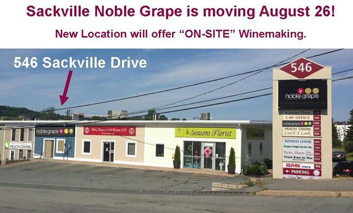 We've moved our Sackville store.  Now offering on-site wine making.  Drop in and say hi :)