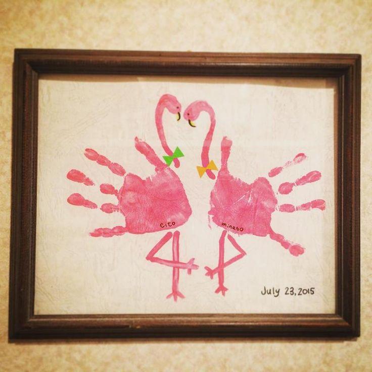 2人の手形を記念に残そう♩カラフルでおしゃれな『手形アート』を結婚式に飾りたい♡にて紹介している画像