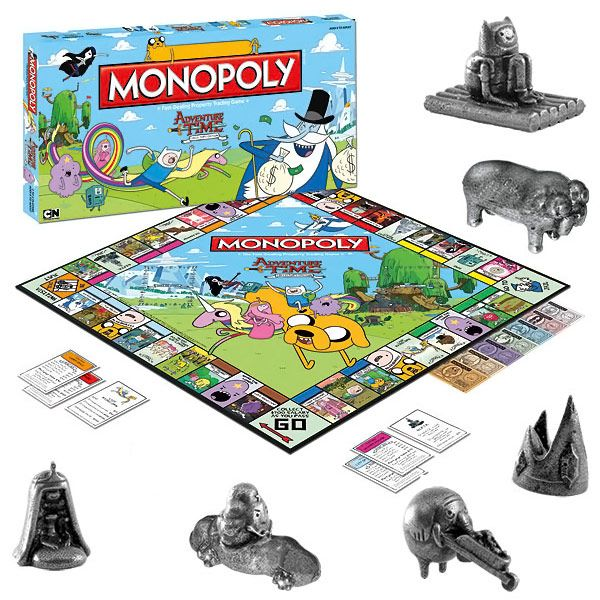 Adventure Time Monopoly....OH MY GLOB!