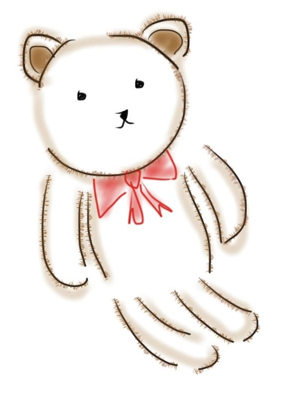 teddy bear red ribbon