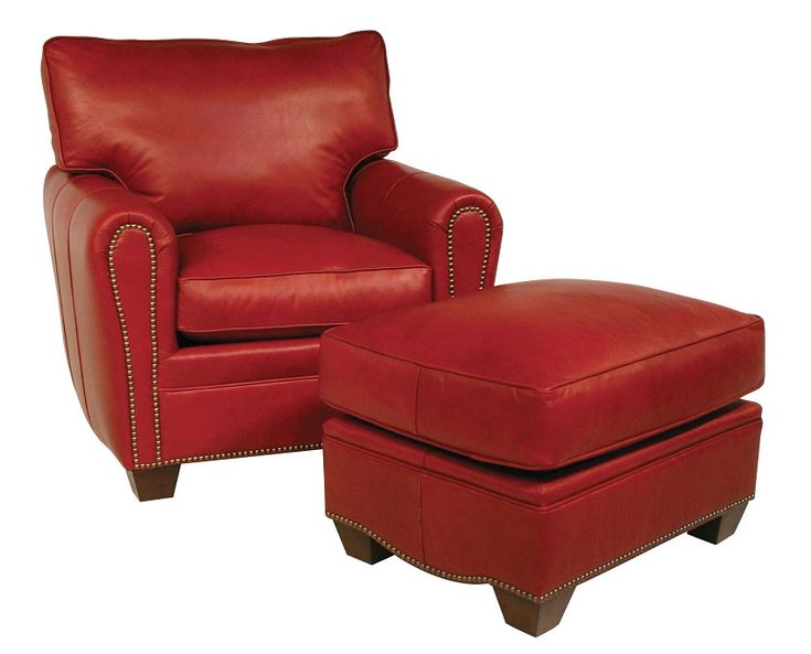 The red leather chair!   This chair is perfectly proportioned for the ultimate in comfort. www.fineleatherfurniture.com