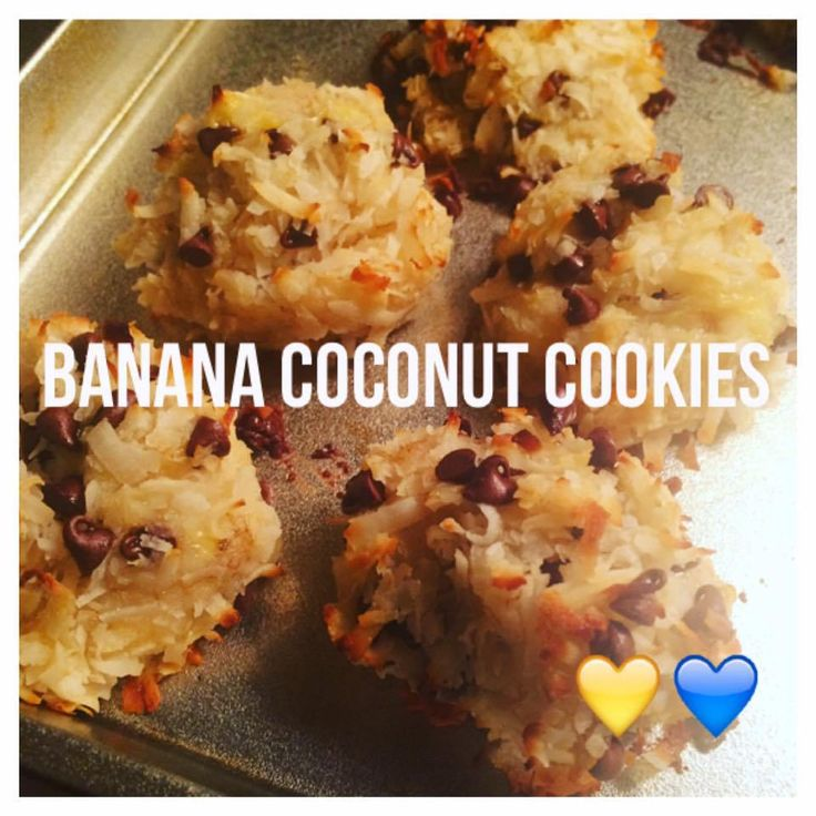 Serves 8 (2 cookies each per serving) Container Equivalents (per serving): 1 Yellow, 1 Blue SmartPoints- 6 // Ingredients 2 ripe bananas, mashed 1-1/3 cups unsweetened coconut flakes 1/4 cup walnut…