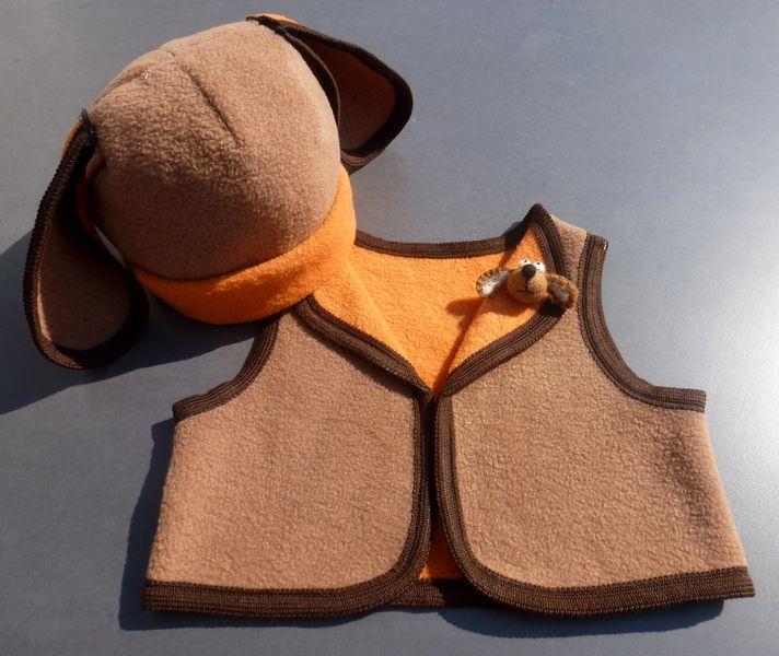 Kostüm Hund Weste und Mütze Fasching  von Lilaluna - steht für phantasievolle Lieblingsstücke auf DaWanda.com