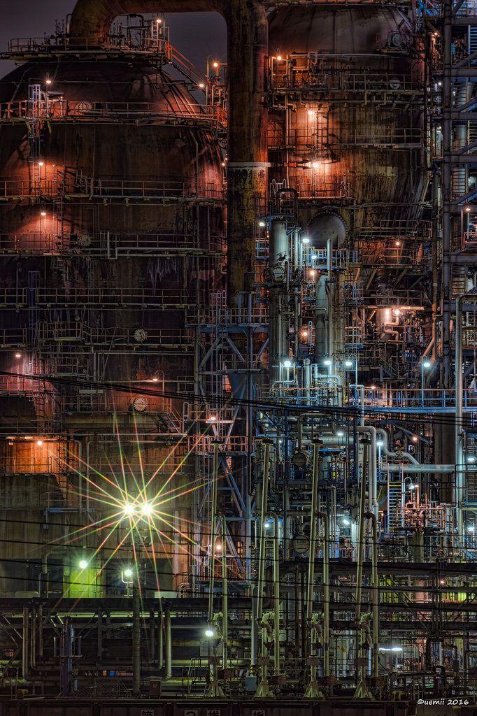 https://flic.kr/p/GLeMjk | light - ライト | 工場のライトは色んな種類がありますね  CANON EOS 7D + TAMRON SP 70-300mm F/4-5.6 Di VC USD  #cooljapan #kawasaki #technoscape