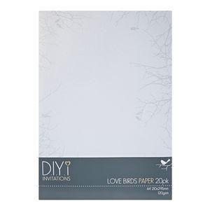 DIYi Love Birds Paper 120gsm A4 20 Pack