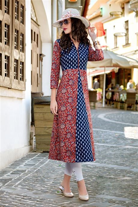 Bulk Simple Daily Wear Printed Cotton Kurtis Catalog