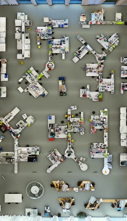 dezeen: Lab photographed from a bird's-eye view by Menno Aden