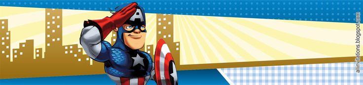 Plantilla etiqueta botella Capitán América