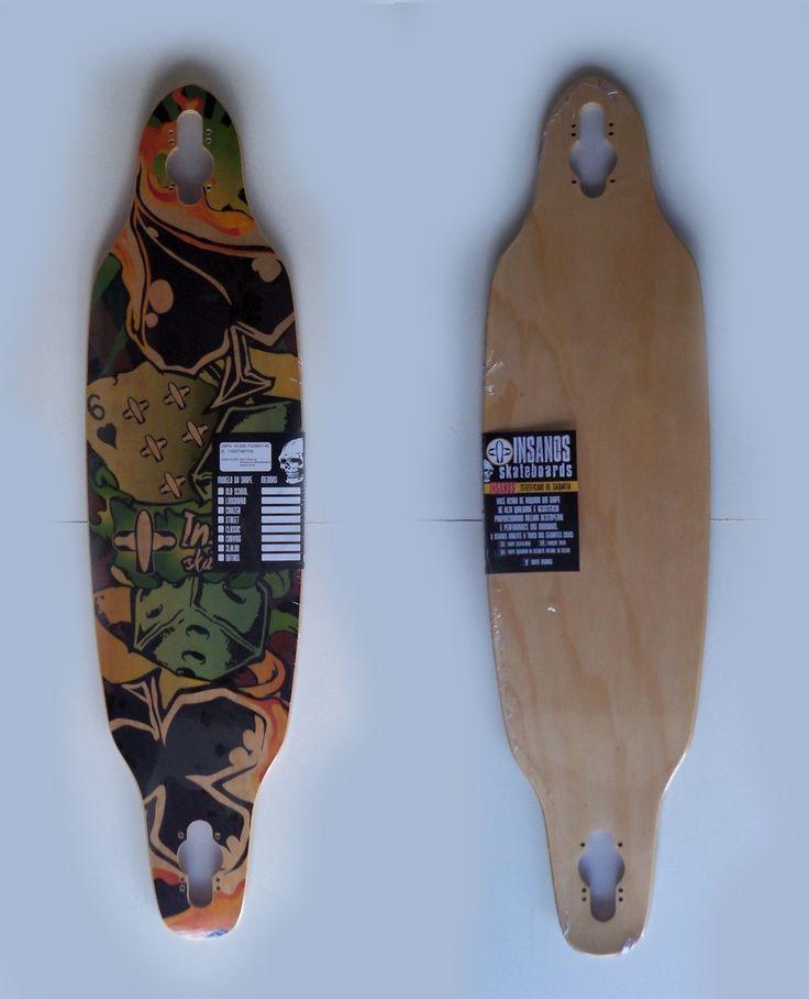 Shape Skate Longboard Dropthrough Insanos 38 - R$ 145,00 no MercadoLivre