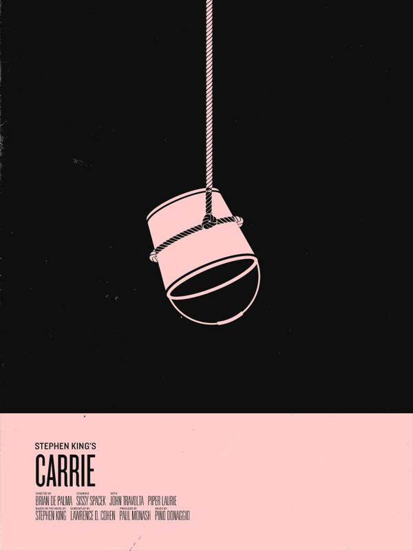 Carrie - Stephen King Minimalist Movie Poster