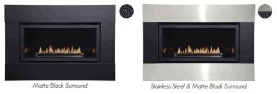 Empire Decorative 4-Sided 3 x 6 Metal Fireplace Frame - 1-piece