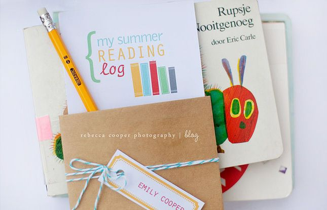 This printable is a great way for the kids to record summer reads.