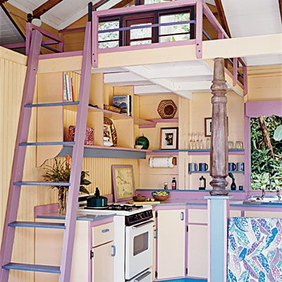 We will have a loft above our kitchen.  Needing ideas for access that is space friendly and kid friendly.