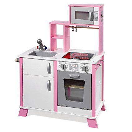 "howa Spielküche / Kinderküche ""Chefkoch"" aus Holz mit LED-Kochfeld 48204"