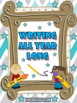 Do you need a writing program from August to June? If so, this is exactly what you have been looking for!This is a comprehensive writing program to take first grade students from non-writers to strong writers. It includes three types of writing (descriptive, timeline, and opinion), rubrics, step-by-step lessons and examples, monthly writing topics for all three genres, monthly writing benchmark papers, and blank writing journal pages.