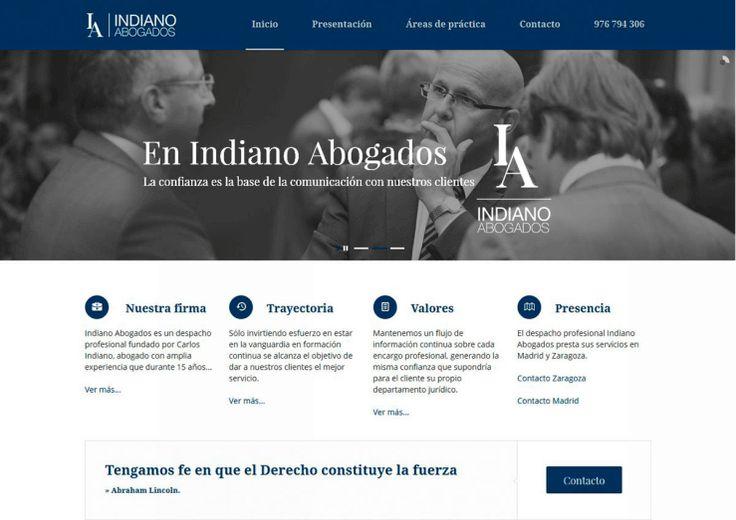 Diseño de lapágina web corporativa para Indiano Abogados. #Idenet #diseño_web_zaragoza #marketing_online http://blog.idenet.net/pt6612