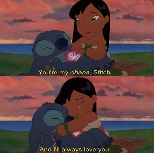 You're my Ohana @The World Wanderer   PS - the bottom pic was us in the street in front of overlook after graduation...