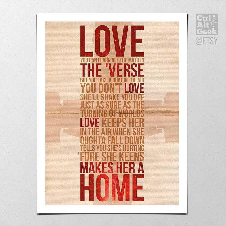 "Firefly - Love // #serenitymovie #firefly #nathanfillion #stayshiny #wordsofwisdom #lifelessons #lovelovelove #alttvposter #alternativetvposter #minimalisttvposter #dvdcollection #bingewatching #posterwall #ctrlaltgeek #ctrlaltgeekprints #posterdesign #postergram #instaposter #instaprint #geekdecor #digitalart #workfromhome #alternativeposter . Sizes: 12x16"" / 18x24"" / A3 / A2 http://ift.tt/2sreD29 http://ift.tt/2rsOKS8"