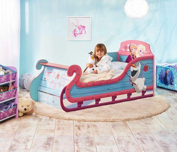 Cama infantil Trieno Frozen 140 x 70 cm ideal para realizar el cambio de la cuna a la cama con sus personajes favoritos. #juvenilesoutlet #camasdisney #FrozenDisney #dormitoriosdisney