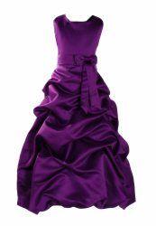 Cinda Mädchen Brautjungfer / Heilige Kommunion Kleid Violett 152-158