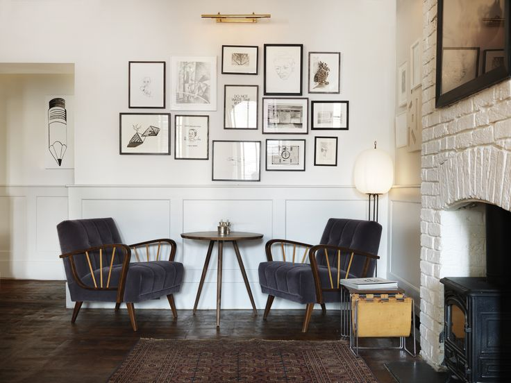 Highroad House, Chiswick. Love simplicity of it all and chairs!