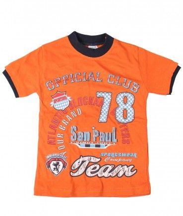 Tricouri ieftine: Tricou baiat portocaliu