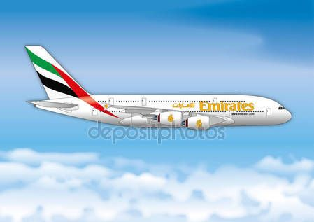 Fly Emirates airline passenger line — Vettoriali  Stock © frizio #151836984