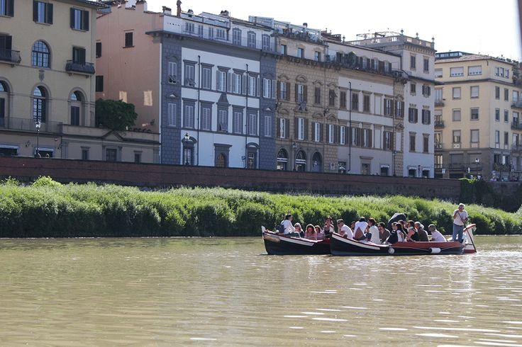 in barca sull'Arno (Firenze)