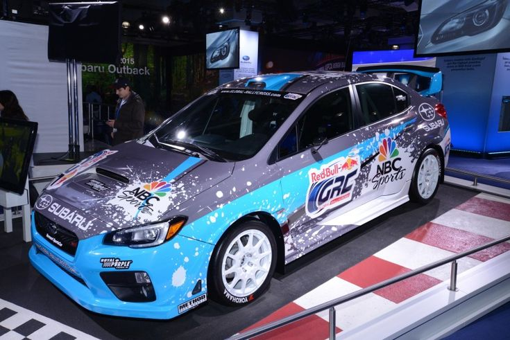 We got to park next to this car during Fanfest at the Pikes Peak International Hill Climb!  Rallycross-spec 2015 Subaru WRX STi