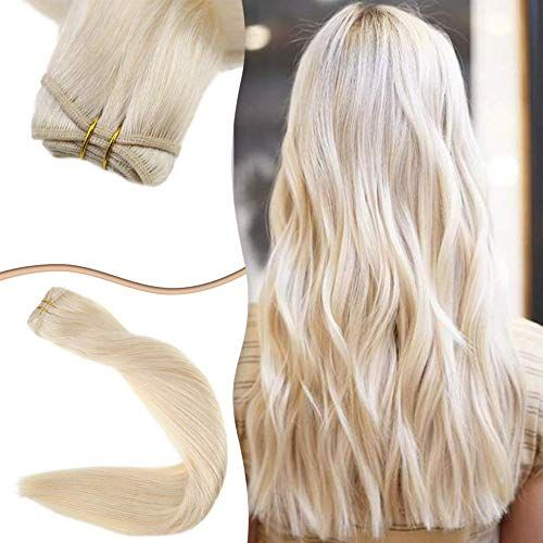 New Easyouth Hair Extension Blonde Sew 100g Each Bundle Brazilian Sew Hair Straight 22 inches Weft Extensions Weft Hair Extensions Human Hair online