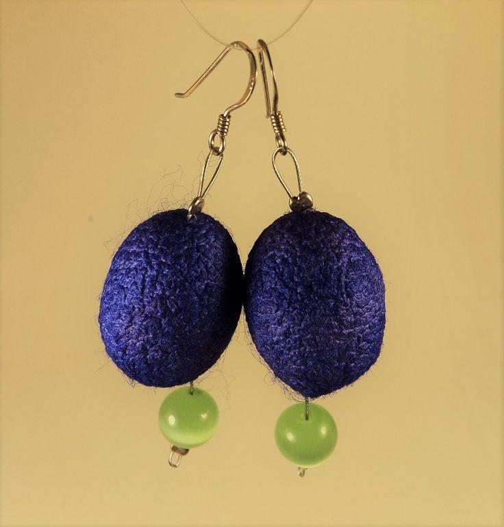 Silk Cocoon earrings
