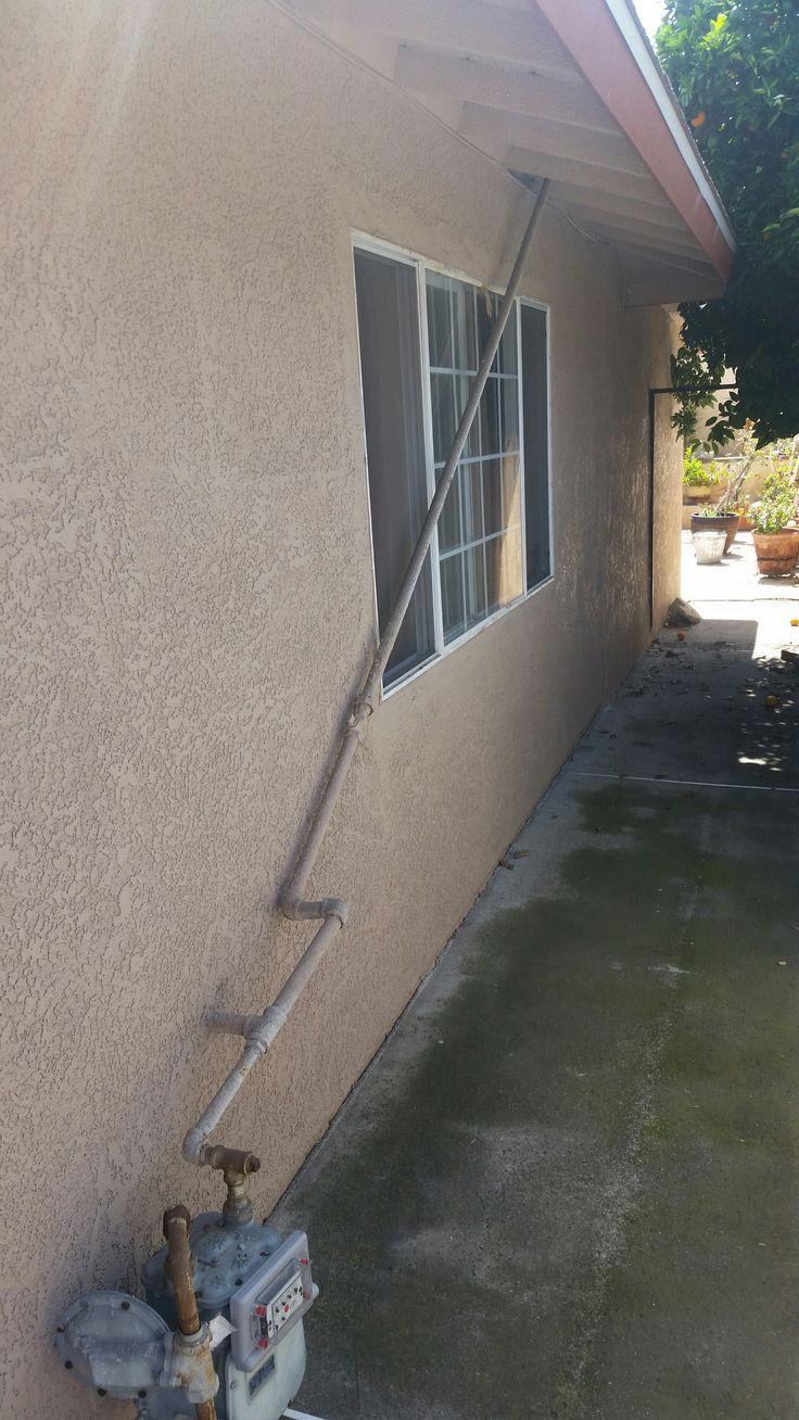 In case of fire, break glass; turn off gas main. - http://www.hvac-hacks.com/in-case-of-fire-break-glass-turn-off-gas-main/