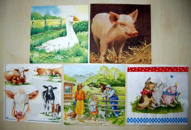 Servietten Bauernhof von Löwenherz auf DaWanda.com