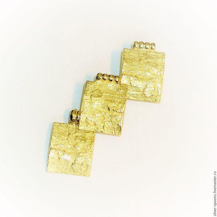 """Купить """"Геометрия"""". Комплект украшений из золота (серьги и кулон) - серьги, классические серьги, серьги классика"""