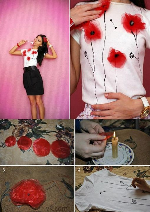 How to decorate old t-shirt