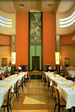 Art Deco architecture   Eaton's Ninth Floor restaurant Montreal
