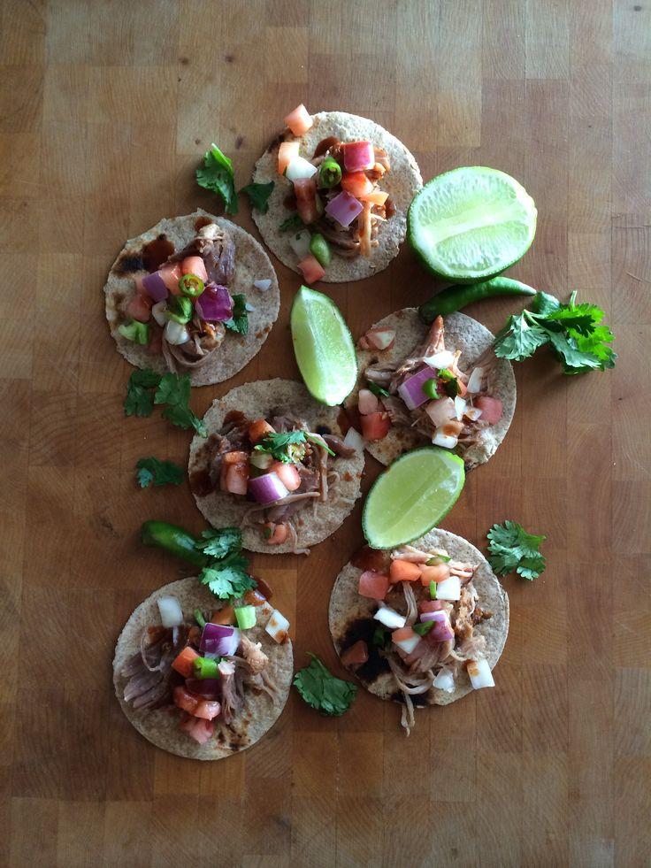 Mini Taco ThursDay! #Dinner #MiniTacos #MiniSoftTacos #Pork #Carnitas #LittleMeats #WholeWheatTortilla #PicoDeGallo #Yum #Eeeeeats #CuttingBoardIdeas #FoodStyling #POTD #MOTD #MMade
