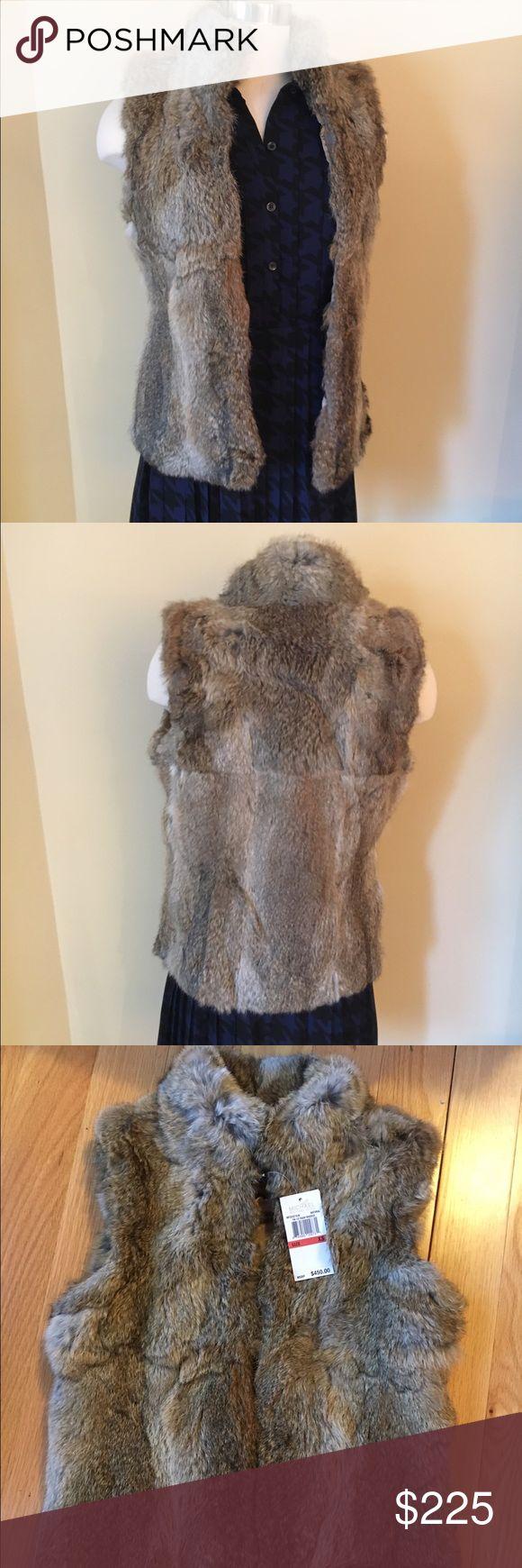 NEWMichael Kors Fur Vest NEW MK Fur Vest. Gorgeous Fur Vest. 50% Off Retail price. Perfect for the Holidays!   % real rabbit fur. ❌no trading or holding Michael Kors Jackets & Coats Vests