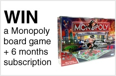 Sign Up to gameNOW to Win a Monopoly board!