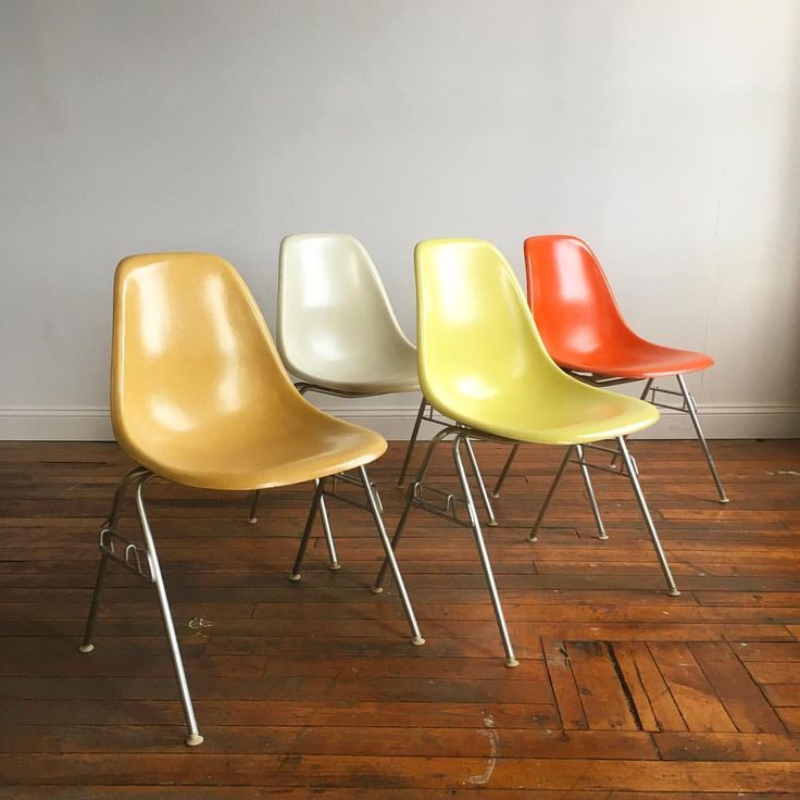 "162 Likes, 2 Comments - Deluxe Vintage Furnishings (@deluxevintagefurnishings) on Instagram: ""Eames stacking chair mixed set. Now available on Etsy. Link in bio. #hermanmiller #eames…"""